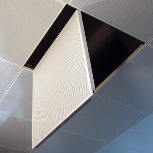 Кассетный потолок На скрытой подвесной системе Перфорированный