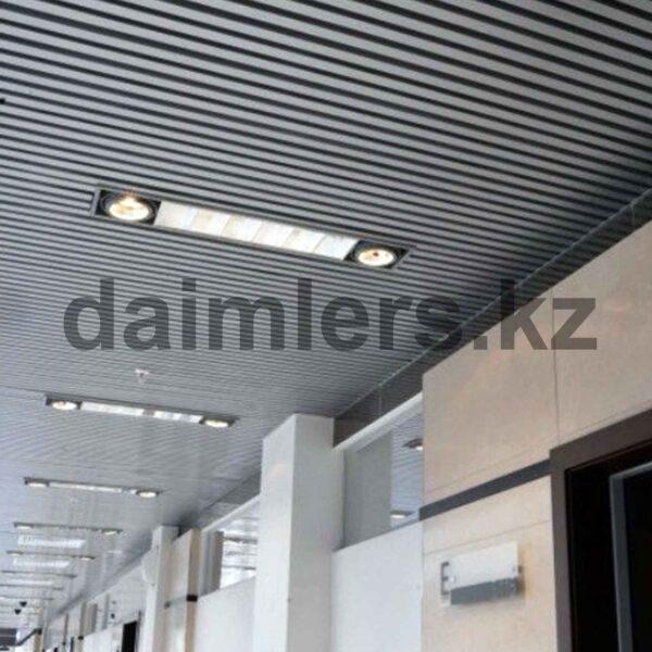 Кубообразный реечный потолок Белый
